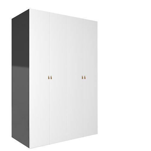 Armario spaceo home macao blanco abatible interior gris 240x160x60cm