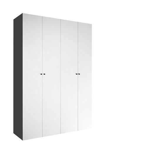 Armario spaceo home mallorca blanco abatible interior gris 240x160x60cm