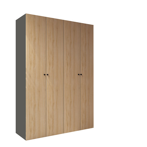 Armario spaceo home mallorca roble abatible interior gris 240x160x60cm