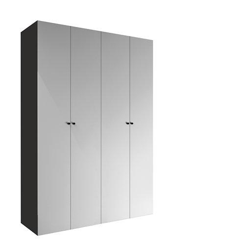 Armario spaceo home mallorca textil abatible interior gris 240x160x60cm