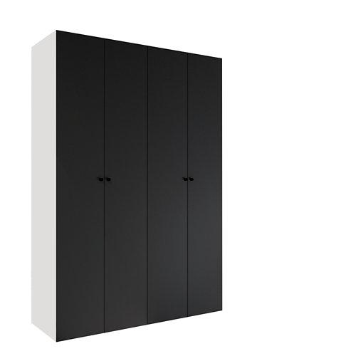 Armario spaceo home mallorca gris abatible interior blanco 240x160x60cm