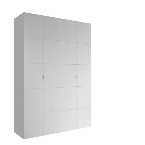 Armario spaceo home lucerna blanco abatible interior blanco 240x160x60cm