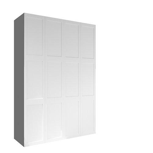 Armario spaceo home yakarta blanco abatible interior gris 240x160x60cm