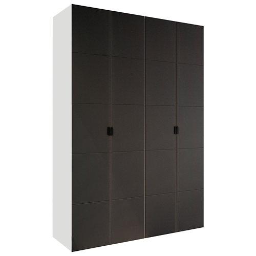 Armario spaceo home lucerna gris abatible interior blanco 240x160x60cm