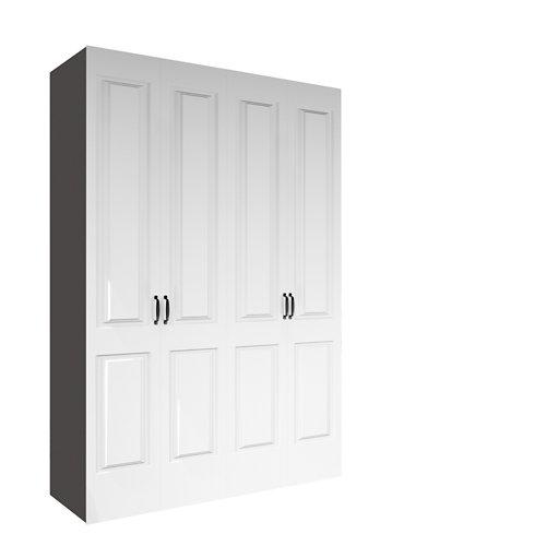 Armario spaceo home marsella blanco abatible interior gris 240x160x60cm