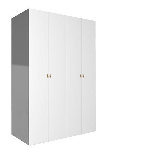 Armario spaceo home macao blanco abatible interior textil 240x160x60cm