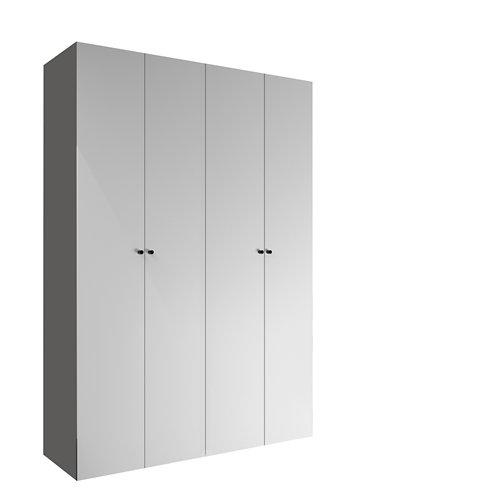 Armario spaceo home mallorca blanco abatible interior textil 240x160x60cm