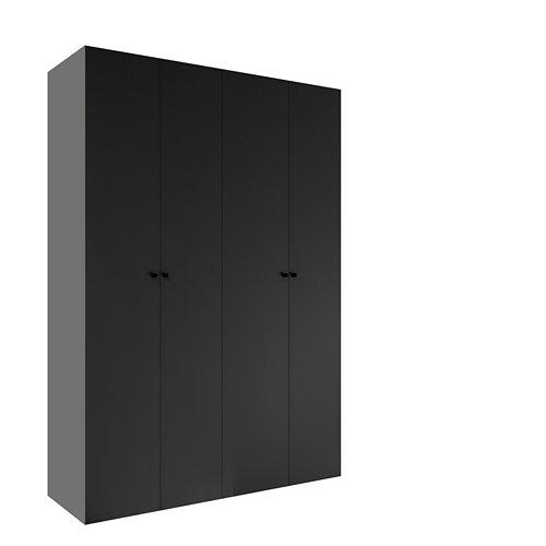 Armario spaceo home mallorca gris abatible interior textil 240x160x60cm
