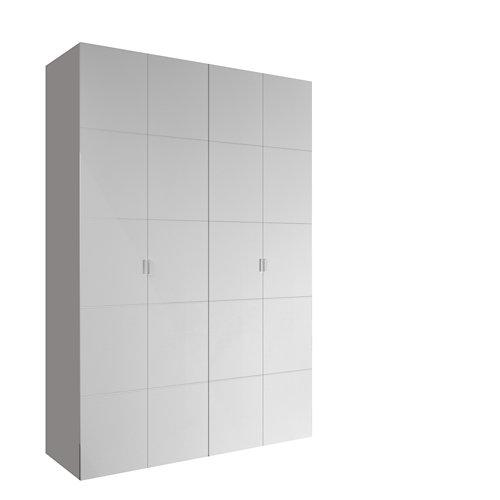 Armario spaceo home lucerna blanco abatible interior textil 240x160x60cm