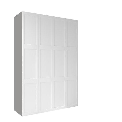 Armario spaceo home yakarta blanco abatible interior textil 240x160x60cm