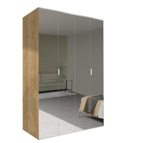 Amario spaceo home doha espejo abatible interior roble 240x160cm