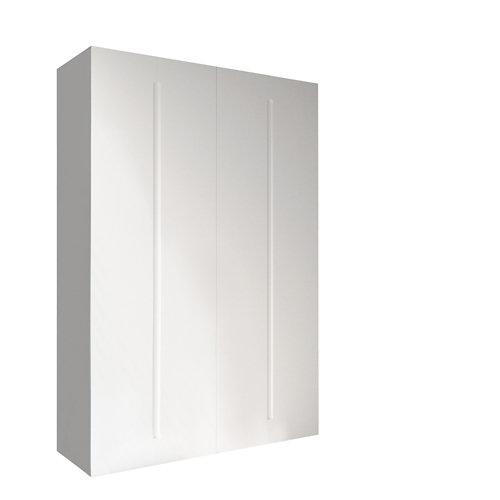 Armario spaceo home osaka blanco abatible interior textil 240x160x60cm