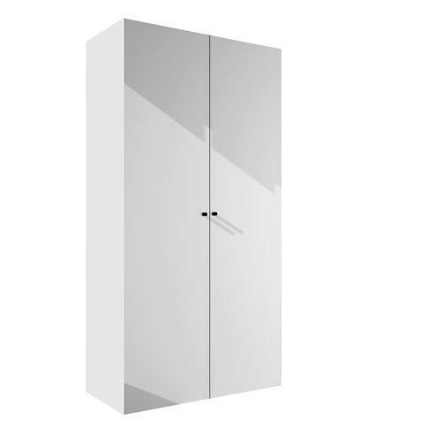 Armario spaceo home mallorca blanco abatible interior blanco 240x120x60cm