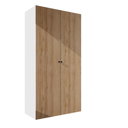 Armario spaceo home mallorca roble abatible interior blanco 240x120x60cm
