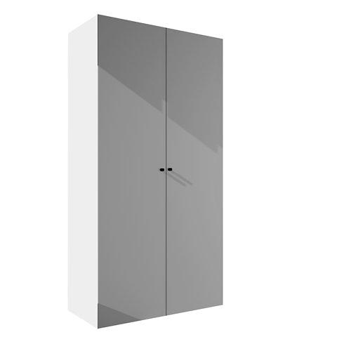 Armario spaceo home mallorca textil abatible interior blanco 240x120x60cm