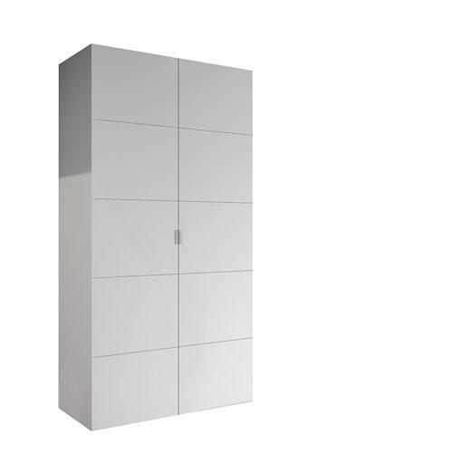 Armario spaceo home lucerna blanco abatible interior blanco 240x120x60cm
