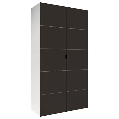 Armario spaceo home lucerna gris abatible interior blanco 240x120x60cm