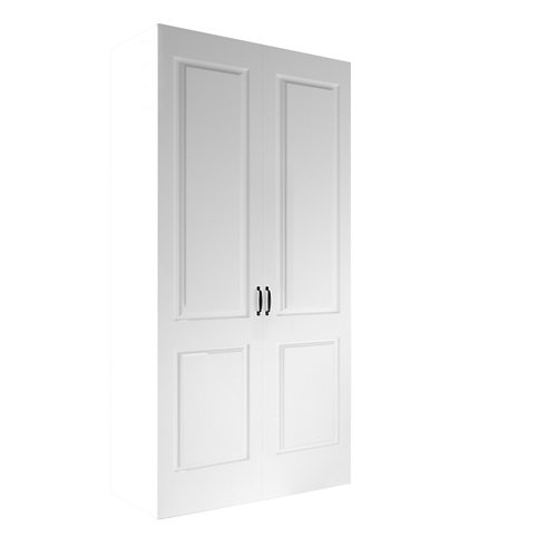 Armario spaceo home marsella blanco abatible interior blanco 240x120x60cm