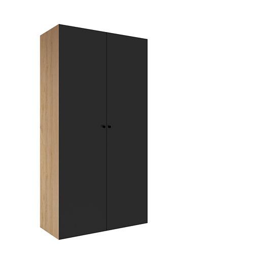 Armario spaceo home mallorca gris abatible interior roble 240x120x60cm