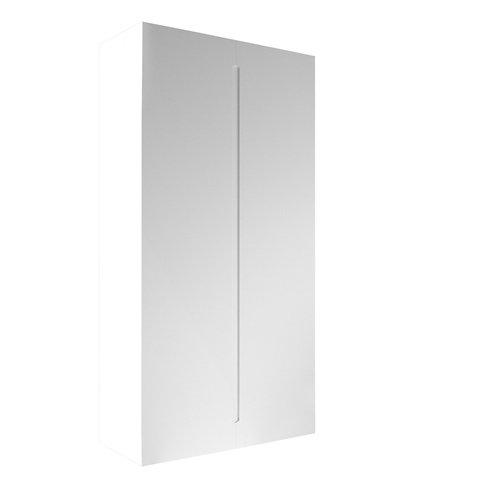 Armario spaceo home osaka blanco abatible interior blanco 240x120x60cm