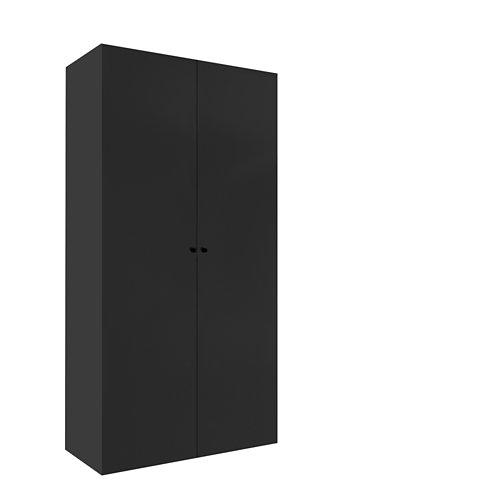 Armario spaceo home mallorca gris abatible interior gris 240x120x60cm