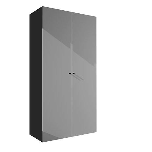 Armario spaceo home mallorca textil abatible interior gris 240x120x60cm