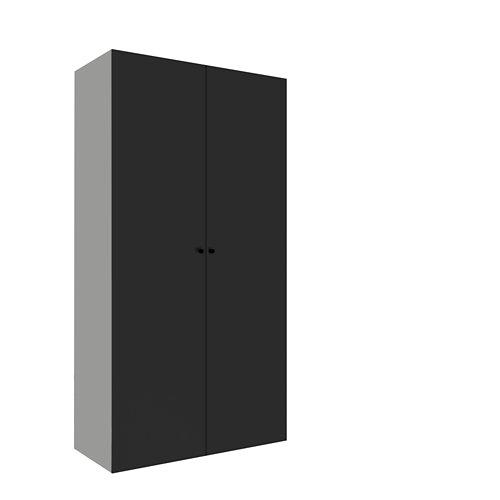Armario spaceo home mallorca gris abatible interior textil 240x120x60cm