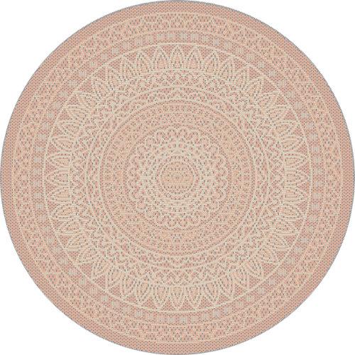 Alfombra de interior y exterior rosa polipropileno vejer 120 x 120cm