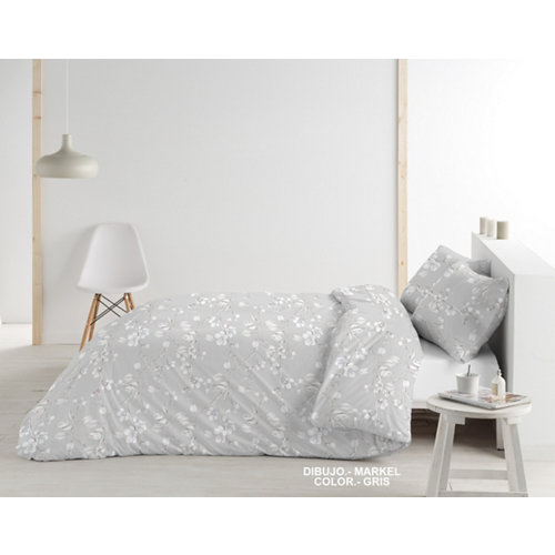 Funda nórdica gris para cama 90 / 105 cm