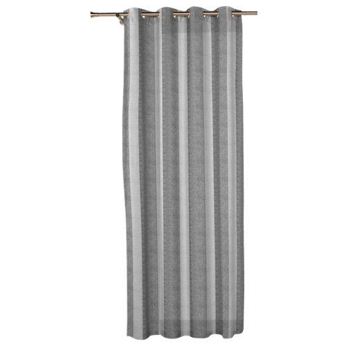 Visillos con ollaos combe gris de 270 x 140 cm
