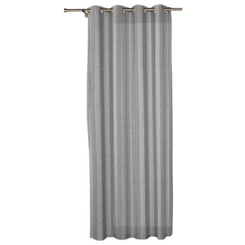 Visillos con ollaos nama gris de 270 x 140 cm