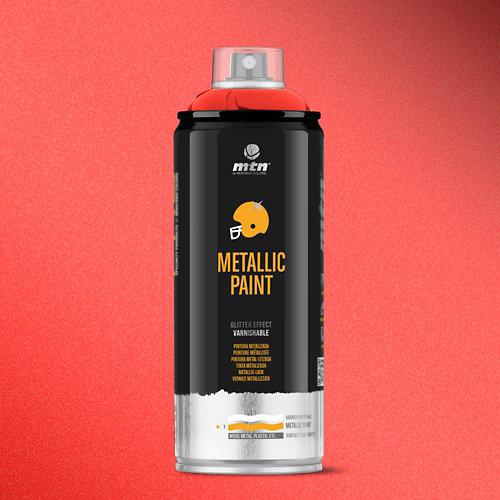 Spray pintura montana pro metalizado rojo r-3032 400ml