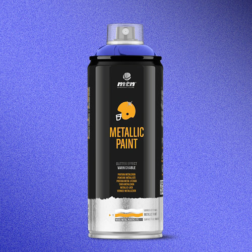 Spray pintura montana pro metalizado azul oscur r-5026 400ml