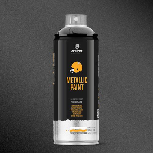 Spray pintura montana pro metalizado negro 400ml