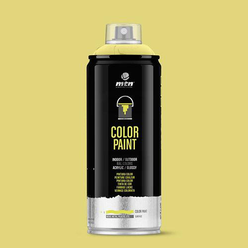 Spray pintura montana pro ral-1016 amarillo azufre 400ml