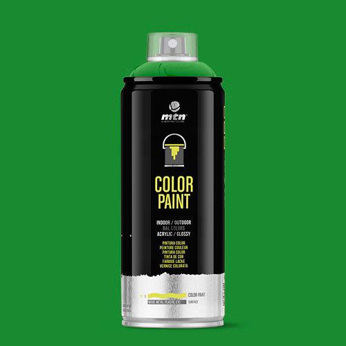 Spray pintura montana pro ral-6018 verde amarillento 400ml