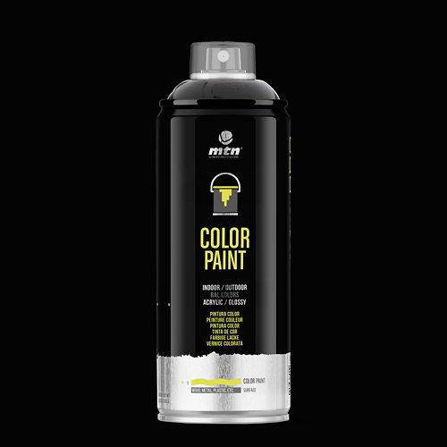 Spray pintura montana pro ral-9005 negro 400ml