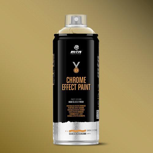 Spray pintura montana pro oro cromado 400ml