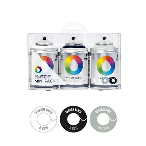 Pack 3 spray pintura montana wb 100 3 (gris-negro-blanco)