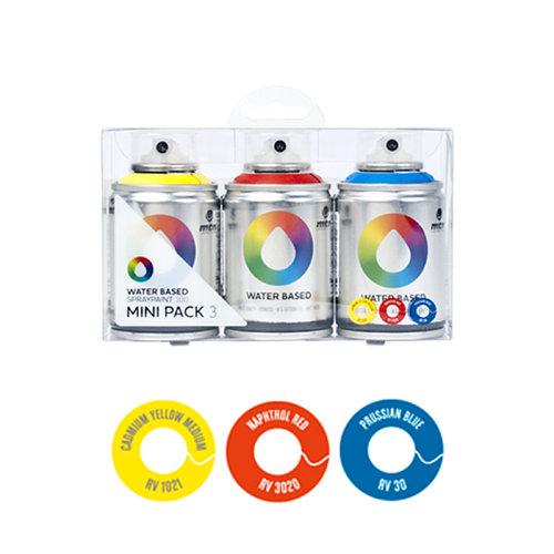 Pack 3 spray pintura montana wb 100 (rojo-amarillo-azul)