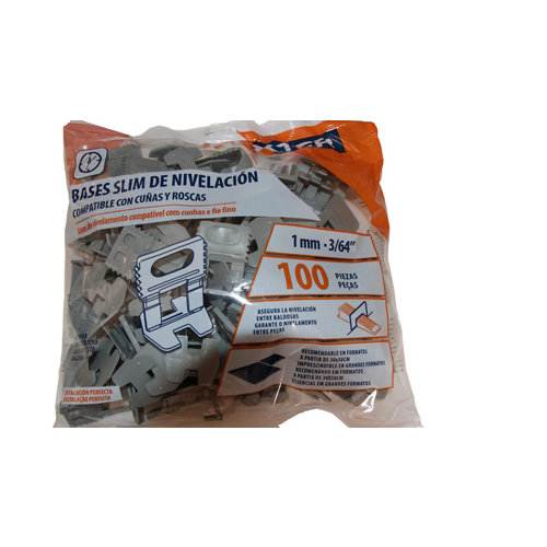 Base con rosca 1mm 100u/bolsa dexter