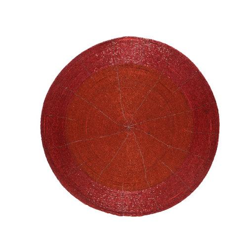 Bajo plato decorativo 35 cm rojo