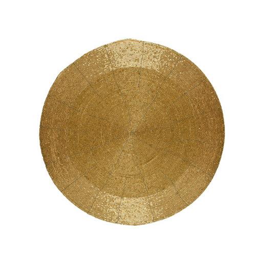 Bajo plato decorativo 35 cm oro