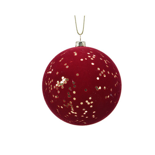 Bola de navidad con estrellas doradas 8 cm plástico