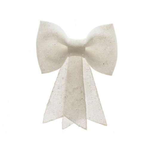 Adorno colgante lazo blanco 2,5x12x14 cm plástico