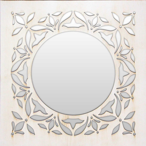 Espejo cuadrada mosaico vishnu blanco 50 x 50 cm