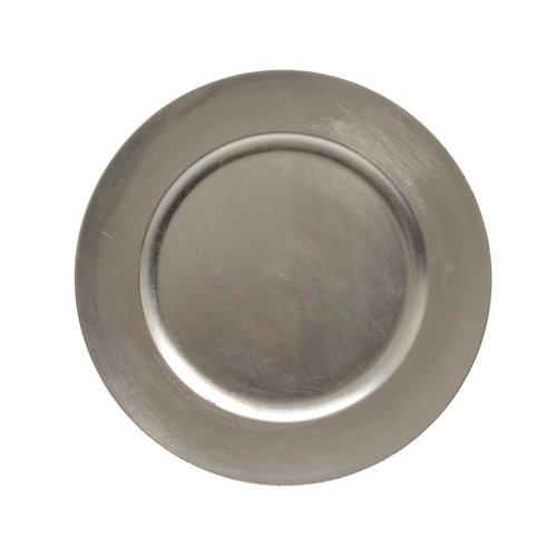 Bajo plato decorativo 33 cm plata