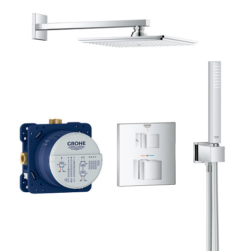 Grifo de ducha empotrado termostático grohe grotherm cromado