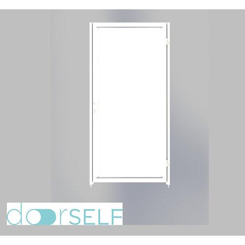 Puerta peatonal blind blanca 100x200 cm