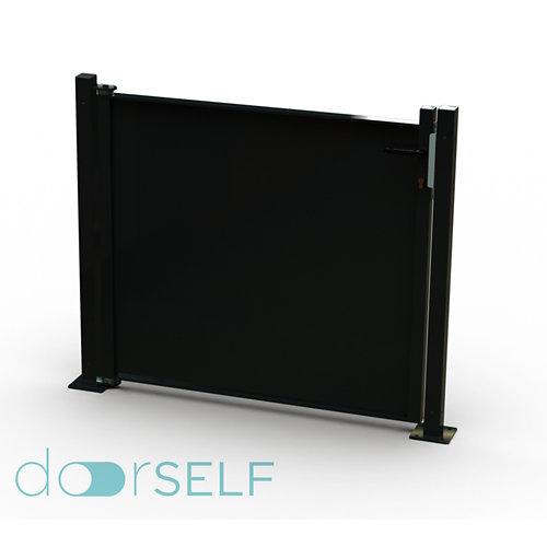 Kit puerta para valla blind negro 116x93,5 cm